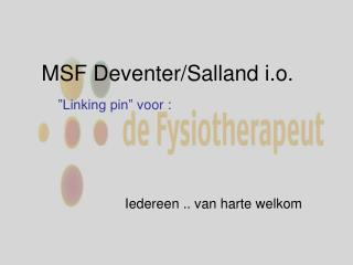 MSF Deventer/Salland i.o.