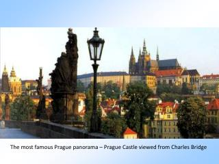 The most famous Prague panorama – Prague Castle viewed from Charles Bridge