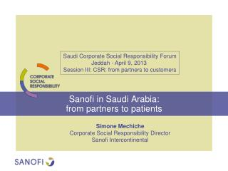 Sanofi in Saudi Arabia:  from partners to patients