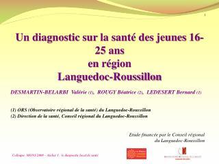 Un diagnostic  sur  la santé des  jeunes  16-25  ans en  région Languedoc-Roussillon