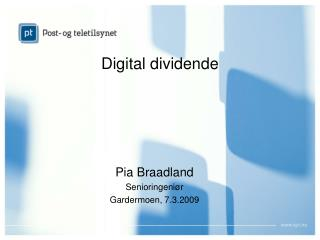 Digital dividende