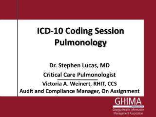 ICD-10 Coding Session Pulmonology
