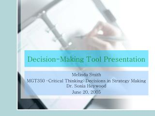 Decision-Making Tool Presentation