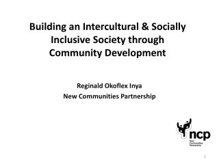 Building an Intercultural & Socially Inclusive Society through  Community Development