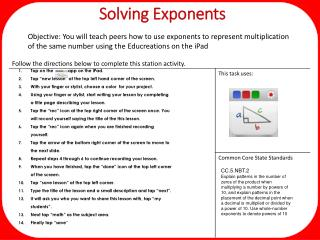 Solving Exponents