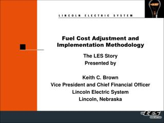 Fuel Cost Adjustment and Implementation Methodology