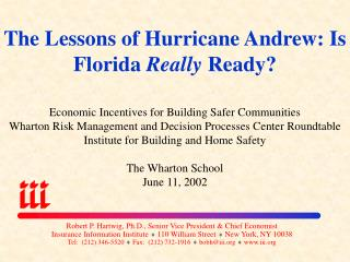 The Lessons of Hurricane Andrew: Is Florida Really Ready