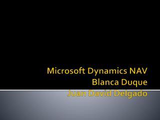 Microsoft Dynamics  NAV Blanca Duque Juan David Delgado