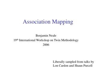 Association Analysis in Human Genetics Studies