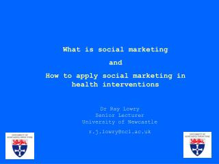 What is social marketing and  How to apply social marketing in health interventions