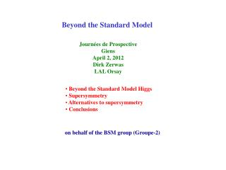 Beyond the Standard Model
