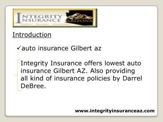 insurance services Gilbert AZ