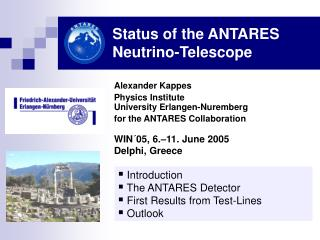Status of the ANTARES Neutrino-Telescope