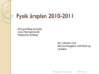 Fysik årsplan 2010-2011