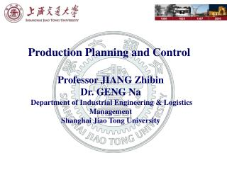Production Planning and Control