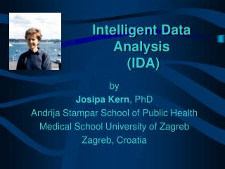 Intelligent Data Analysis  IDA