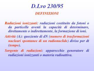 D.Lvo 230/95
