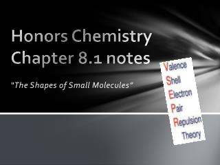 Honors Chemistry Chapter 8.1 notes