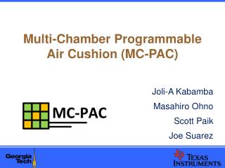Multi-Chamber Programmable Air Cushion (MC-PAC)