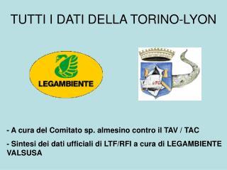 TUTTI I DATI DELLA TORINO-LYON