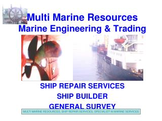 Multi Marine Resources Marine Engineering & Trading