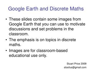 Google Earth and Discrete Maths