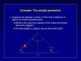 Example: The simple pendulum