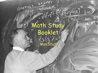 Math Study Booklet