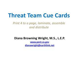 Threat Team Cue Cards