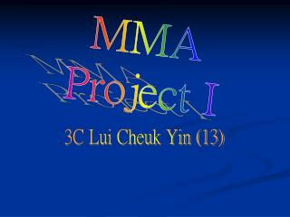 MMA Project I