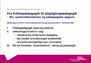 Søren Langager. Danmarks Pædagogiske Universitetsskole