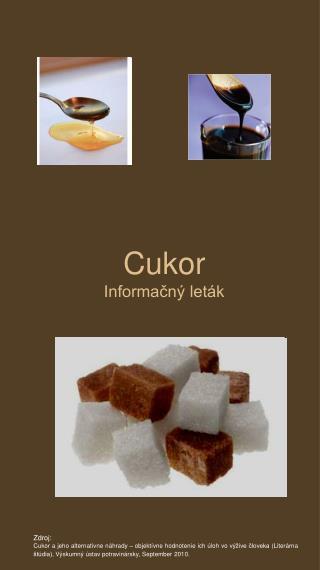Cukor Informačný leták