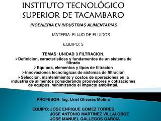 INSTITUTO TECNOLÓGICO SUPERIOR DE TACAMBARO