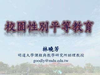 林曉芳 明道大學課程與教學研究所助理教授 goodly@mdu.tw