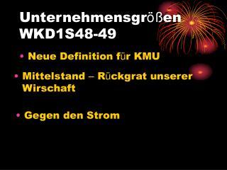 Unternehmensgr öß en WKD1S48-49