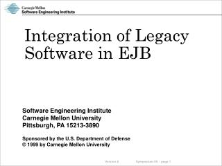 Integration of Legacy Software in EJB