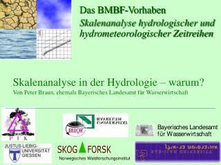 Das BMBF-Vorhaben Skalenanalyse hydrologischer und hydrometeorologischer Zeitreihen