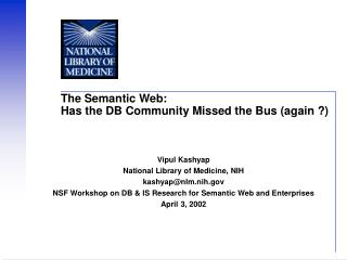 The Semantic Web: Has the DB Community Missed the Bus (again ?)