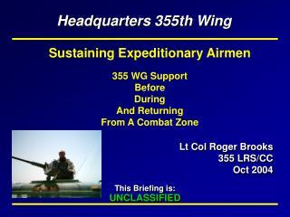 Lt Col Roger Brooks 355 LRS