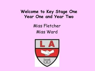 Welcome to Key Stage One Year One and Year Two