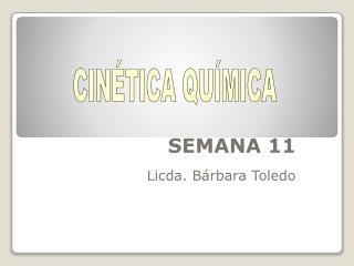SEMANA 11 Licda. Bárbara Toledo