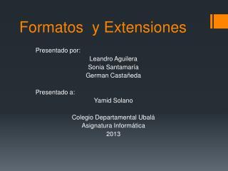 Formatos  y Extensiones