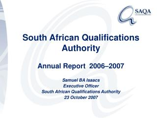 South African Qualifications Authority