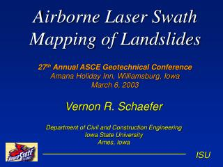 Airborne Laser Swath Mapping of Landslides
