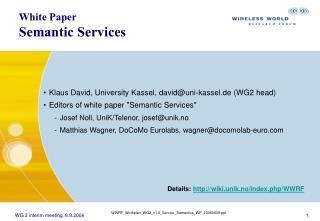 White Paper Semantic Services