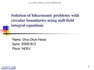 Solution of biharmonic problems with circular boundaries using null-field integral equations