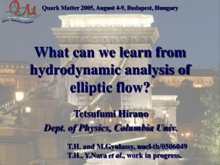 What can we learn from hydrodynamic analysis of elliptic flow?