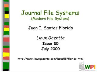 Journal File Systems (Modern File System)