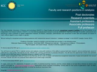 Post doctorates Research scientists Assistant professors Associate professors Full professor