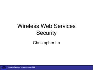 Wireless Web Services Security